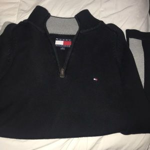 Tommy Hilfiger M Black Half ZIP Pullover